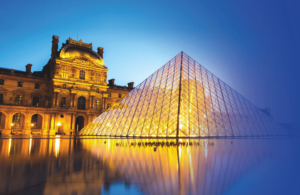 Louvre pyramide in Paris