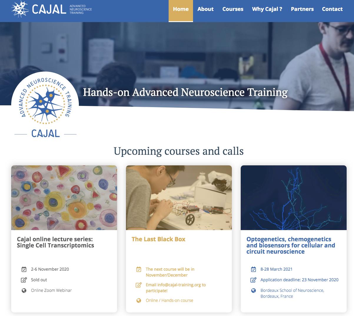 CAJAL new website
